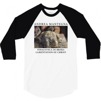 Andrea Mantegna Lamentation Of Christ 3/4 Sleeve Shirt Designed By Akin