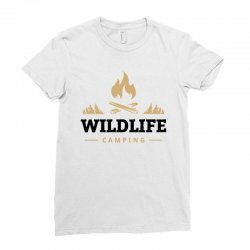 Wildlife Camping Ladies Fitted T-Shirt | Artistshot