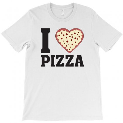I Love Pizza T-shirt Designed By Bigdlab