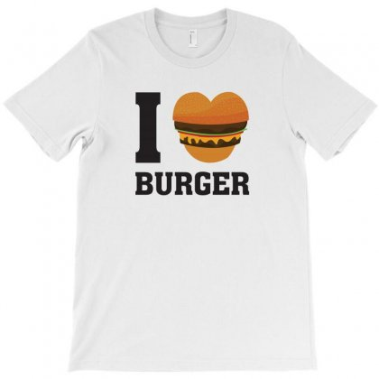 I Love Burger T-shirt Designed By Bigdlab