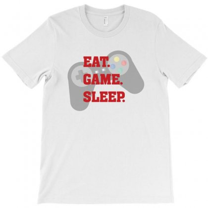 Eat Game Sleep T-shirt Designed By Bigdlab