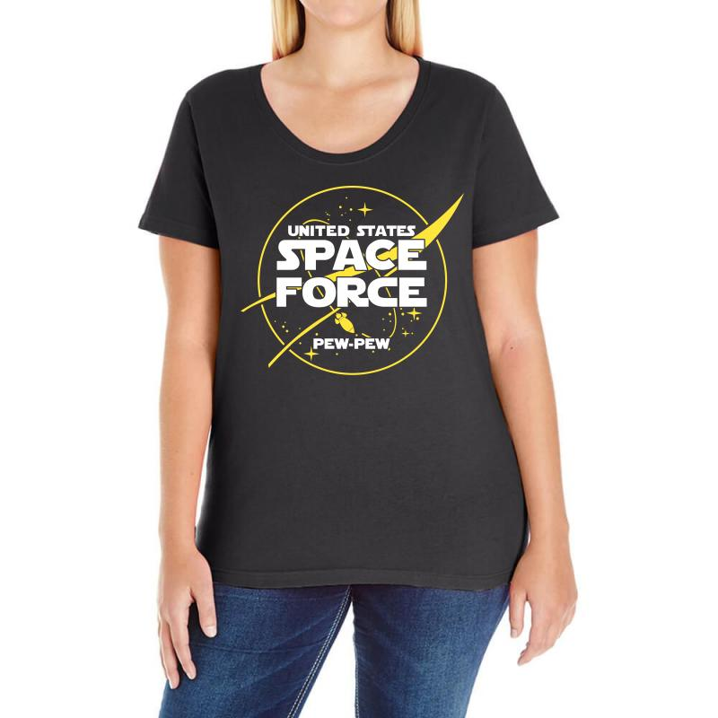 bc221a746 Custom United States Space Force Ladies Curvy T-shirt By Cosby - Artistshot