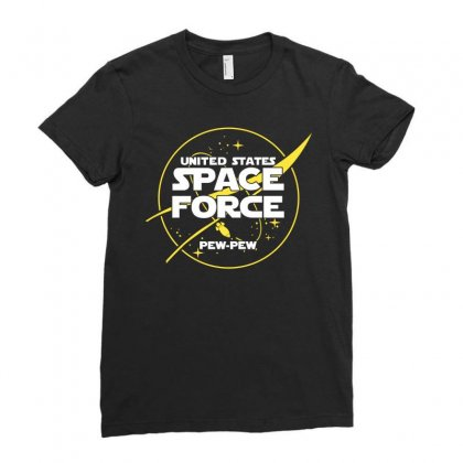 United States Space Force Ladies Fitted T-shirt Designed By Cosby