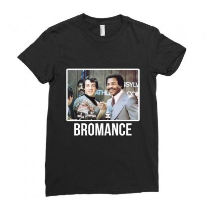 Bromance Ladies Fitted T-shirt Designed By Artistshotf1
