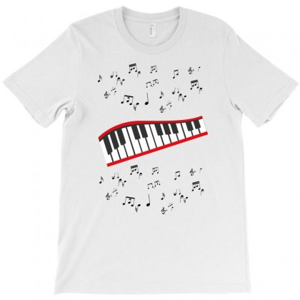 Piano And Music T-shirt Designed By Artistshotf1