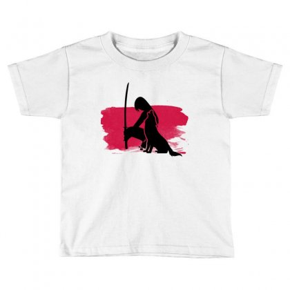 Wolf And Lady Toddler T-shirt Designed By Artistshotf1