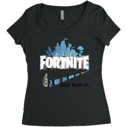 Just Play It Fortnite Women's Triblend Scoop T-shirt | Artistshot