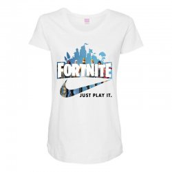 Just Play It Fortnite Maternity Scoop Neck T-shirt | Artistshot