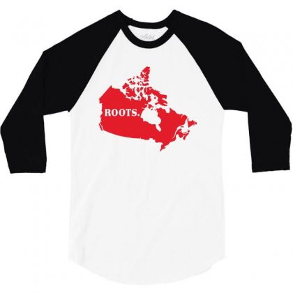Canada Continent Roots 3/4 Sleeve Shirt Designed By Sengul
