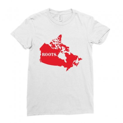 Canada Continent Roots Ladies Fitted T-shirt Designed By Sengul