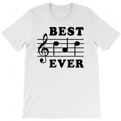 Best Dad Ever Funny Music Note T-shirt Designed By Akin