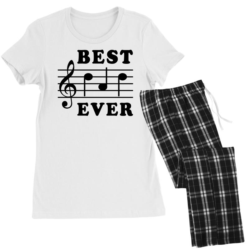 e6d6273bc Custom Best Dad Ever Funny Music Note Women's Pajamas Set By Akin ...