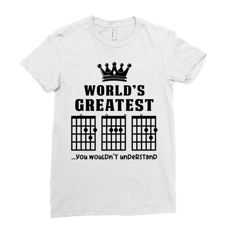 53632944d Custom F Chord Dad Funny Guitar Ladies Fitted T-shirt By Akin - Artistshot