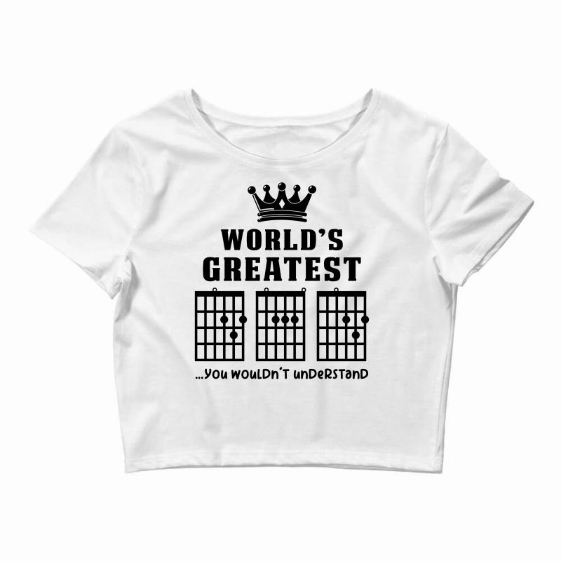 af523955b Custom F Chord Dad Funny Guitar Crop Top By Akin - Artistshot