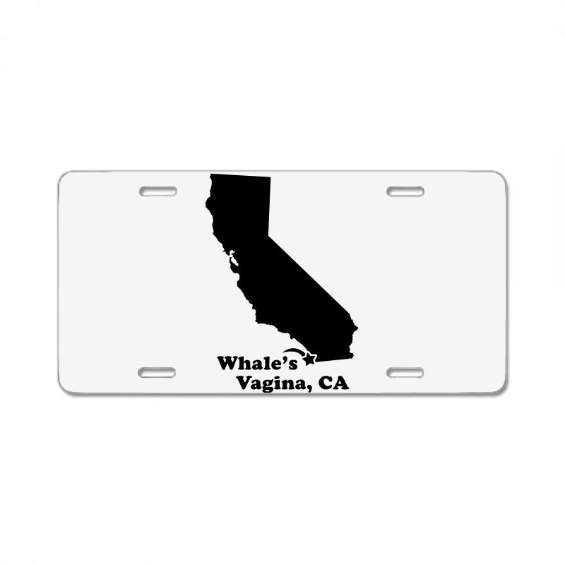Whale's Vagina Ca License Plate  By Artistshot
