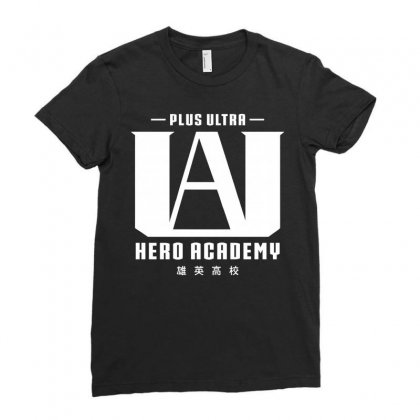 Plus Ultra Hero Academy Ladies Fitted T-shirt Designed By Akin