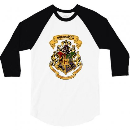 Harry Potter Hogwarts 3/4 Sleeve Shirt Designed By Sengul