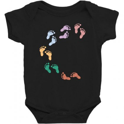 Baby Colorful Foot Baby Bodysuit