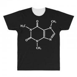 Caffeine Molecule All Over Men's T-shirt | Artistshot