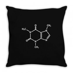 Caffeine Molecule Throw Pillow | Artistshot