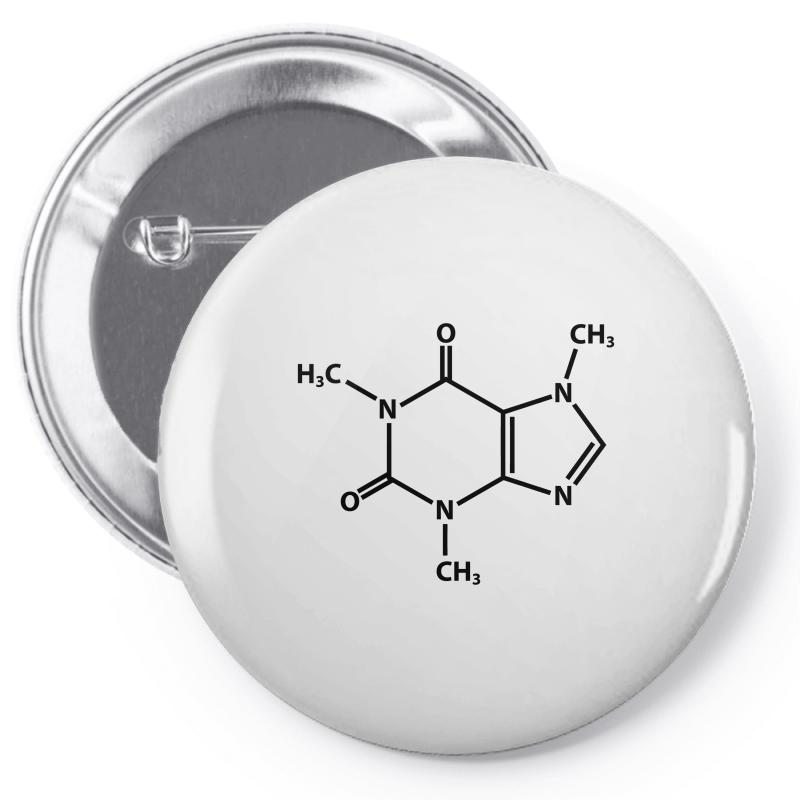 Caffeine Molecule Pin-back Button | Artistshot