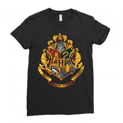 Hogwarts Logo T-shirts Ladies Fitted T-shirt Designed By Hasret