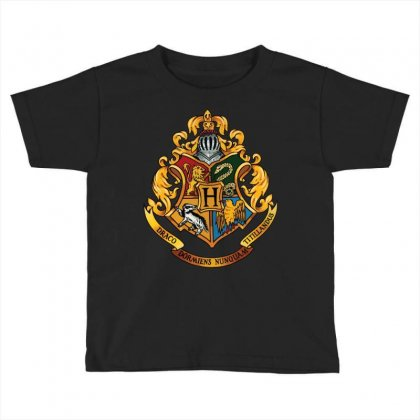 Hogwarts Logo T-shirts Toddler T-shirt Designed By Nurbetulk