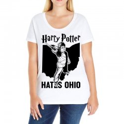 Harry Potter Hates Ohio Ladies Curvy T-Shirt | Artistshot