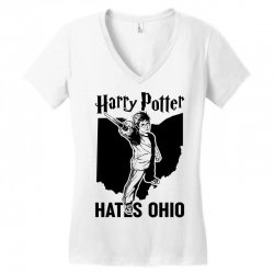 Harry Potter Hates Ohio Women's V-Neck T-Shirt | Artistshot
