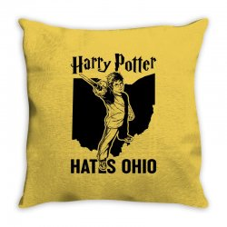 Harry Potter Hates Ohio Throw Pillow | Artistshot