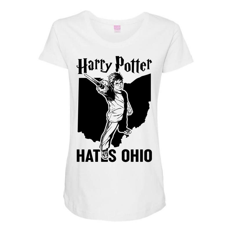 Harry Potter Hates Ohio Maternity Scoop Neck T-shirt | Artistshot