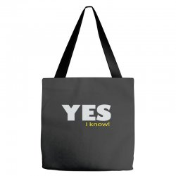 yes i know Tote Bags | Artistshot