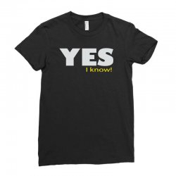 yes i know Ladies Fitted T-Shirt | Artistshot