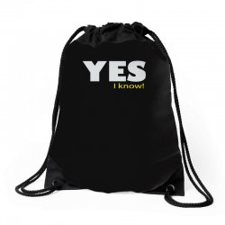 yes i know Drawstring Bags | Artistshot