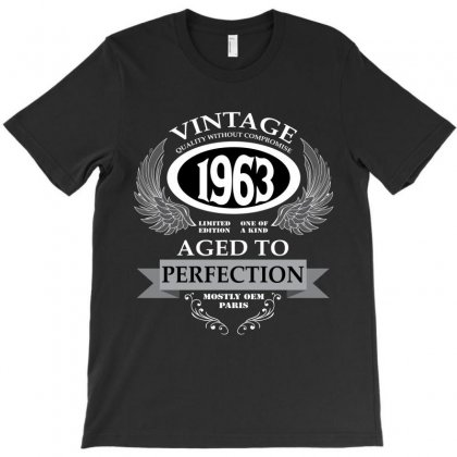 Vintage Quality Without Compromise 1963 Aged To Perfection T-shirt Designed By Wizarts