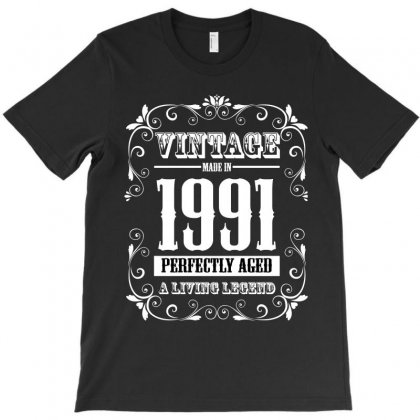 Vintage Made In 1991 Perfectly Aged A Living Legend T-shirt Designed By Wizarts
