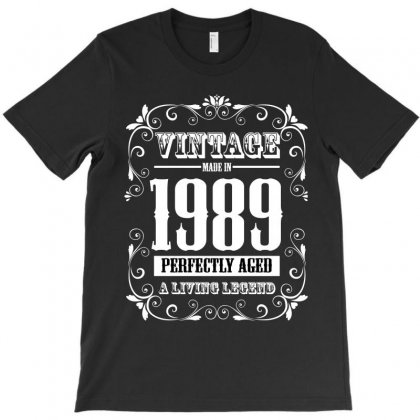 Vintage Made In 1989 Perfectly Aged A Living Legend T-shirt Designed By Wizarts