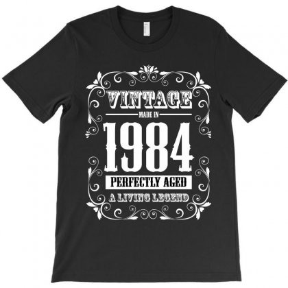 Vintage Made In 1984 Perfectly Aged A Living Legend T-shirt Designed By Wizarts
