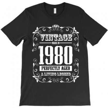 Vintage Made In 1980 Perfectly Aged A Living Legend T-shirt Designed By Wizarts