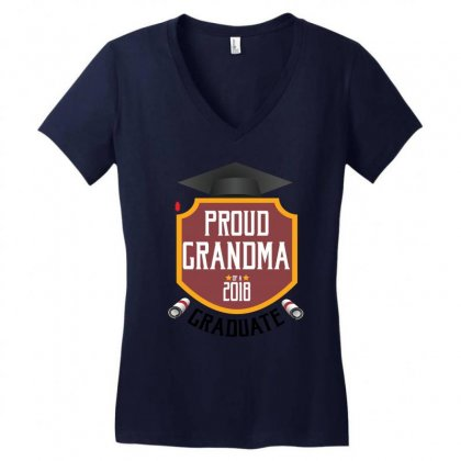 Proud Grandma Of A 2018 Graduate Women's V-neck T-shirt Designed By Wizarts