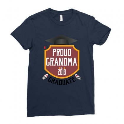 Proud Grandma Of A 2018 Graduate Ladies Fitted T-shirt Designed By Wizarts