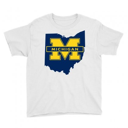 Ohio For Michigan Youth Tee Designed By Yellow Star