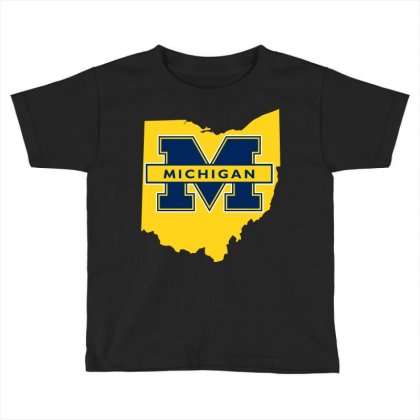 Ohio For Michigan Toddler T-shirt Designed By Yellow Star