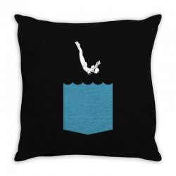 Yes, You Can Dive Throw Pillow | Artistshot