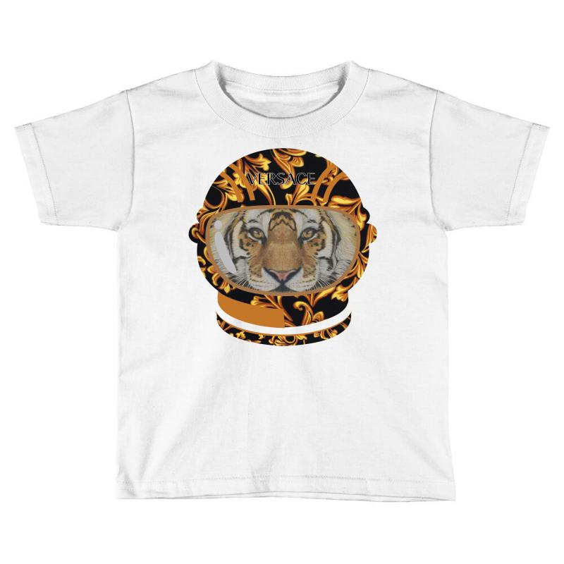 326a1d172 Custom Astronaut Helmet Tiger Versace Toddler T-shirt By Nurbetulk ...