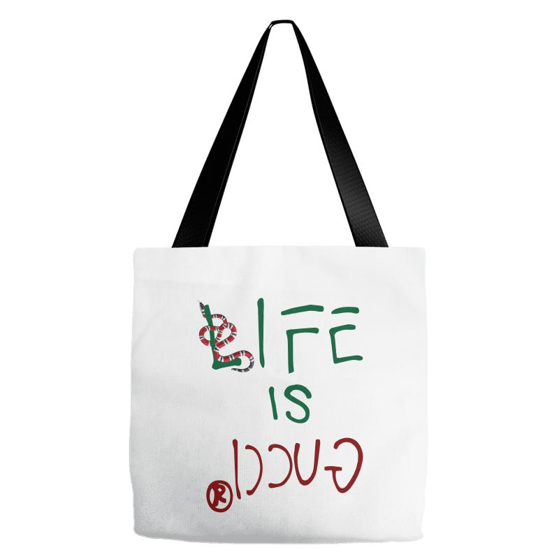 11f18ccf40e8e Custom Life Is Gucci Tote Bags By Sengul - Artistshot