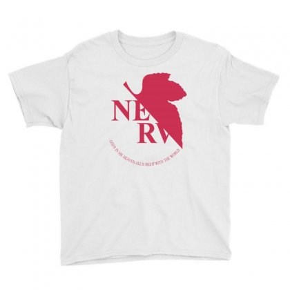 Nerv -evangelion Youth Tee Designed By Wizarts