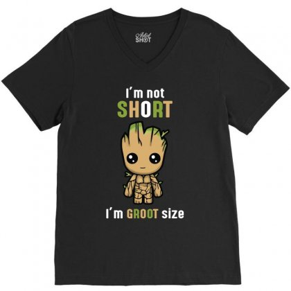 Groot Size Cool T Shirts V-neck Tee Designed By Wizarts