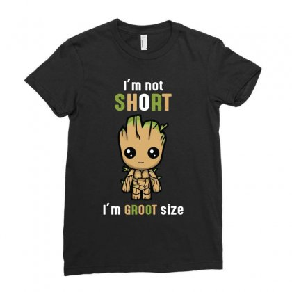 Groot Size Cool T Shirts Ladies Fitted T-shirt Designed By Wizarts