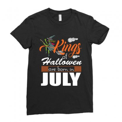 Halloween Kings Are Born In July Ladies Fitted T-shirt Designed By Rardesign